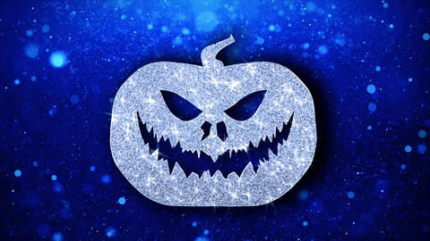 Happy Halloween Element Blinking Element Icon Particles Greetings, Invitation Live Action