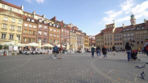 Rynek Starego Miasta square in Warsaw GIF