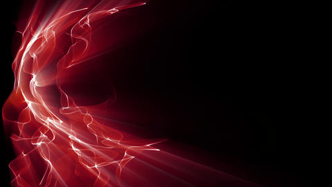 Light FX2006: Waves of red fractal light undulate and shine Animation