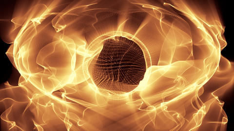 Light FX2007: Waves of golden light undulate and flow Animation