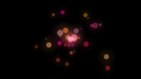 Light FX2044: Red bokeh light discs pulse and shift Animation