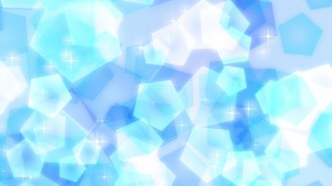 ループ 青 キラキラ 五角形 パステル 上昇 CG動画