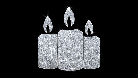 Christmas Ornament Candle Element Blinking Icon Particles Greetings, Invitation Footage
