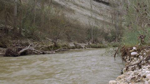 River Filled After Hurricane Torrential Rain Footage