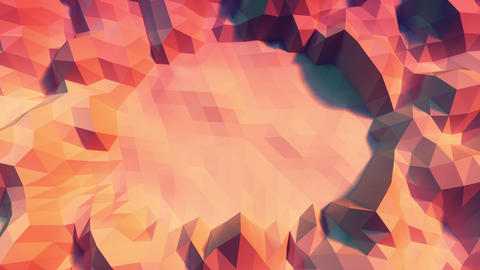 Low poly Background Loop center space Close Top view - warm color GIF