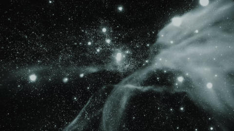 Space 2136: Flying through star fields in deep space Animation
