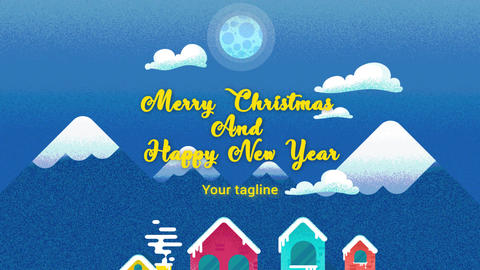 Merry Christmas and Happy New Year After Effects Template