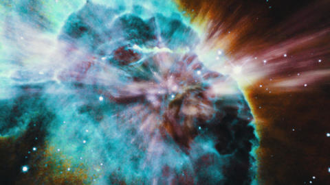 Space 2148: Flying through star fields in space Animation