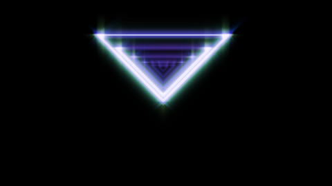 Neon triangle from the 80s. Design element in retro style futurism, retrowave Live Action