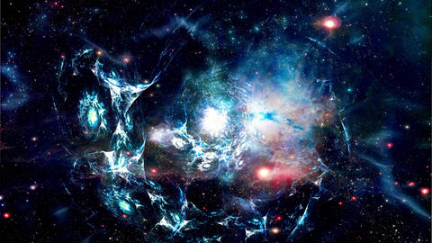 Space 2152: Galaxies form in deep space Animation