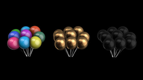 Animation bundle of balloons with alpha channel Animation