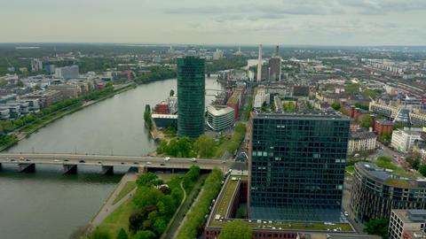 FRANKFURT AM MAIN, GERMANY - APRIL 29, 2019. Aerial view of the European Archivo