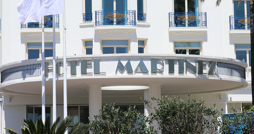 Hotel Martinez Cannes Entrance Footage