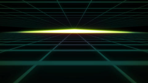 80s Retro Futurism Background. Background in retro wave style. Camera flies Live Action