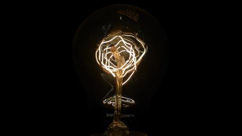 Light Bulb 05 incandescent decorative slowly turning off Archivo