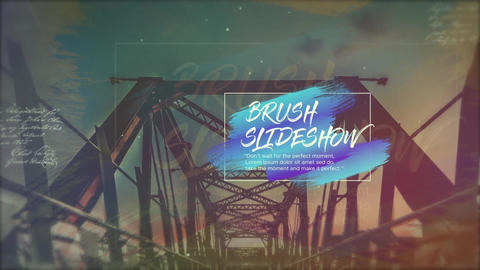 Brush Cinematic Slideshow After Effects Template