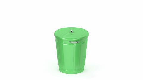 Green trash can Animation