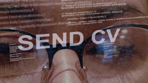 Send CV text on female software developer Footage