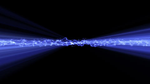 Light FX2053: Abstract light waveforms ripple and shine Stock Video Footage