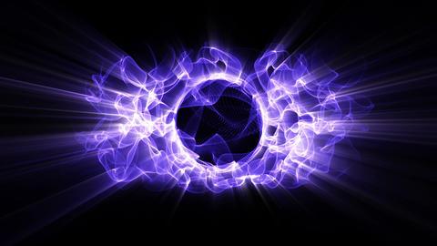 Light FX2058: Radial light waveforms ripple and shine Animation