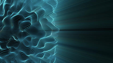 Light FX2060: Abstract light waveforms ripple and shine Animation