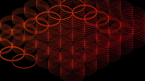 Abstract line 3D virtual isometric circle lighting... Stock Video Footage