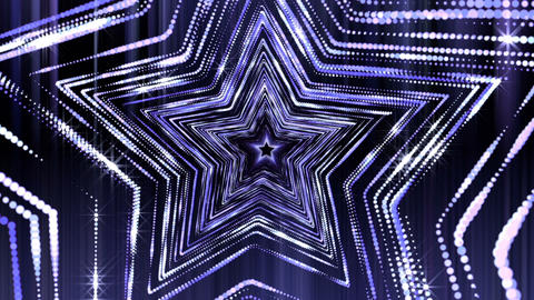 Stars Glitter Shine Loop Vj Tunnel Animation