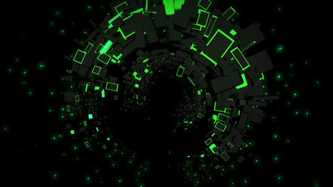 Green Abstraction 4K 02 Vj Loop Animation