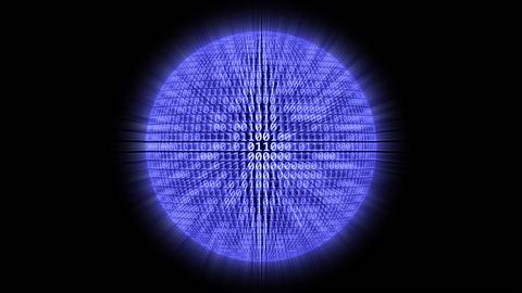 1080p Loopable: Binary Sphere Footage