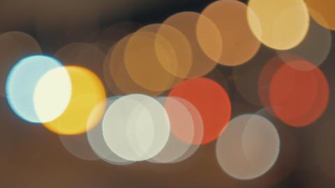 Blur lights of night city. Colorful bokeh Archivo