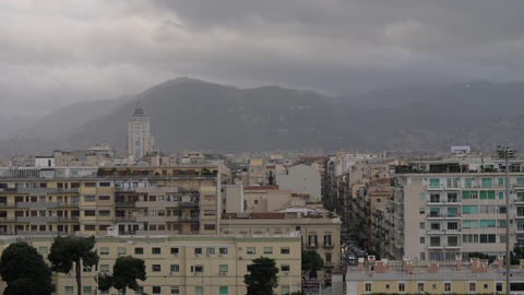 Cityscape of Palermo on overcast day, Italy Archivo