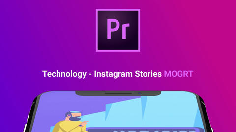 Technology - Instagram Stories モーショングラフィックステンプレート