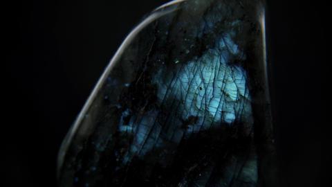 Beautiful Blue Labradorite Stone Rotate Live Action