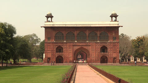 Naqqar Khana Red Fort Delhi India. Naqqar Khana a uniquely shaped drum building Live Action