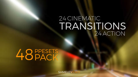 Cinematic & Action Transitions Premiere Proテンプレート