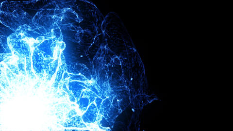 Energy Wave 1002: Glowing blue plasma bursts with energy Animation