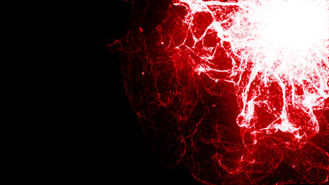 Energy Wave 1004: Glowing red plasma bursts with energy Animation