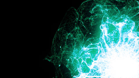 Energy Wave 1006: Glowing green plasma bursts with energy Animation