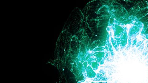 Energy Wave 1006: Glowing green plasma bursts with energy Animation