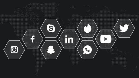 Social Media logo compilation animation CG動画