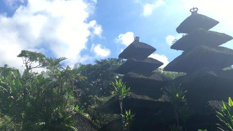 Pura Luhur Batukaru Temple on Bali, Indonesia, 4k footage video Footage