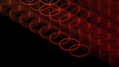 Abstract line 3D virtual isometric circle lighting moving, Technology network digital data transfer Animation