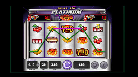 Hitting a jackpot on a casino slot machine on line Live Action