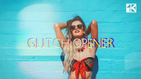 Glitch Opener 4K After Effects Template