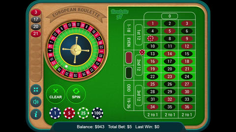 Playing Online Casino Gambling Roulette Wheel Game On The Digital Tablet Footage