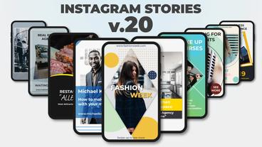 Instagram Stories v 20 After Effects Template