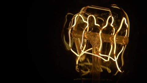 Light bulb 11 camera moving from left to right Live Action