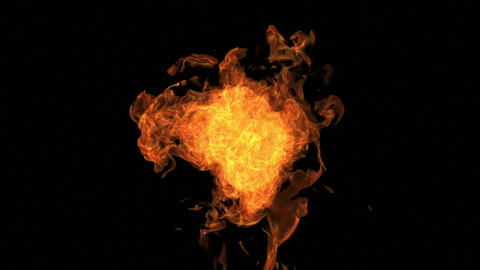 Fire explosion to the camera with Alpha Channel Videos animados