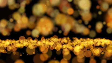Glare and bokeh particles Animation