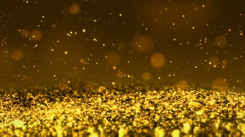 Golden Shiny glitter seamless loop abstract texture close up macro background Animation